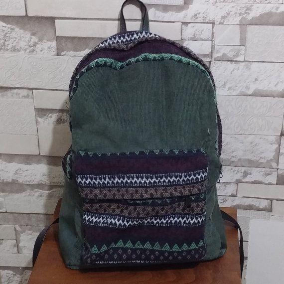 Handmade - Tribal -Ethnic Backpack Rucksack neutral backpack