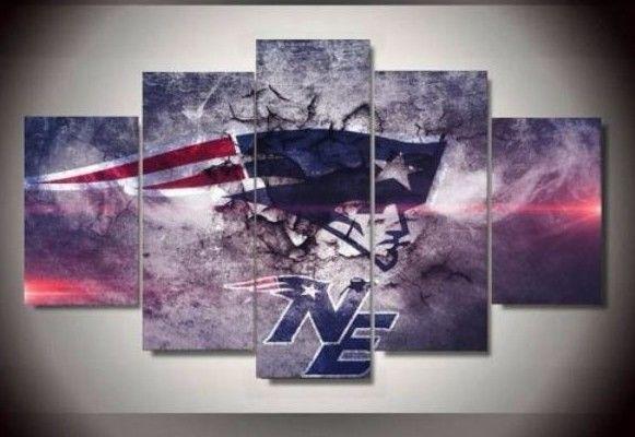 Canvas Wall Art New England Patriots Football team 5pcs Painting HD Poster Decor #Unbranded #NewEnglandPatriots