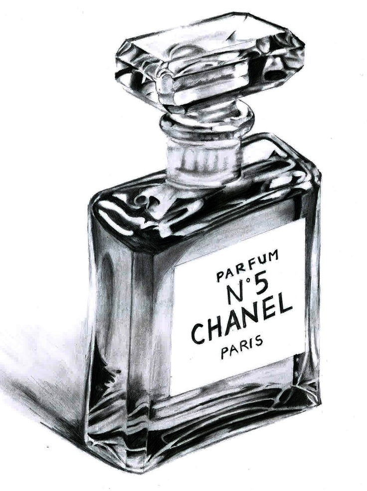 Perfume Chanel No.5 Tools including: Mechanical pencil, eraser, and mainly index finger