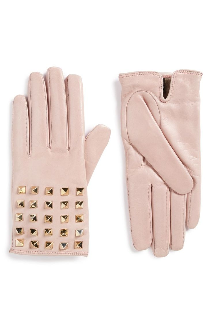 John lewis ladies black leather gloves - Rockstud Leather Gloves