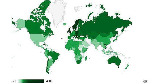 Cuáles son los mejores y peores países para los permisos de maternidad  Este es el mapa de los permisos de maternidad mundiales según los días garantizados.