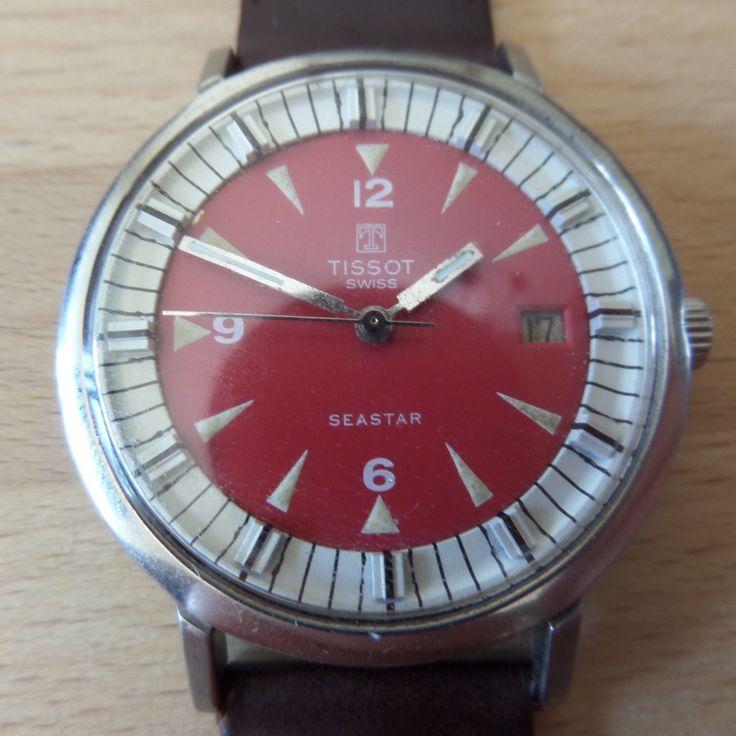 TISSOT SEASTAR - 1972 Vintage Guaranteed Genuine, Swiss made Gents/Mens mehanical mechainsim wrist watch by EWcoLondon on Etsy