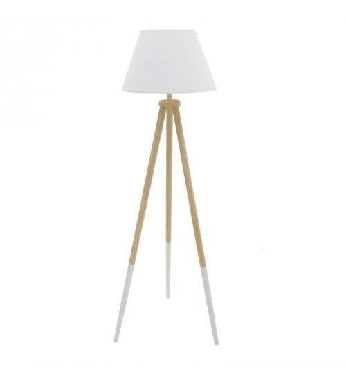 WOODEN FLOOR LAMP IN NATURAL_WHITE COLOR D45X150