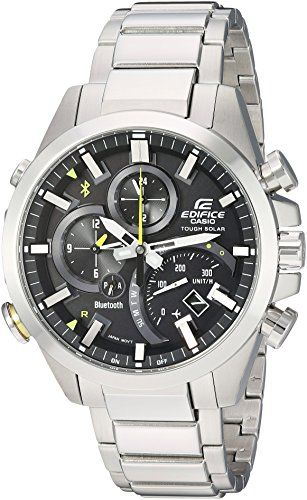 Casio Men's 'Edifice Solar Connected' Quartz Stainless Steel Casual Watch, Color:Silver-Toned (Model: EQB-501D-1ACF) - Big Sale Online Shopping USA