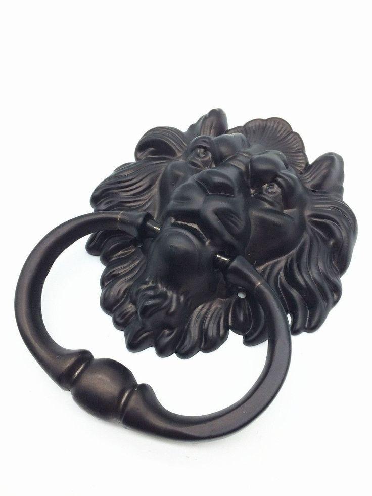 Door  Hardware Black Nickel Lion Door Knocker Lionhead Doorknockers Lions Home Decor - ICON2 Luxury Designer Fixures  Door # #Hardware #Black #Nickel #Lion #Door #Knocker #Lionhead #Doorknockers #Lions #Home #Decor