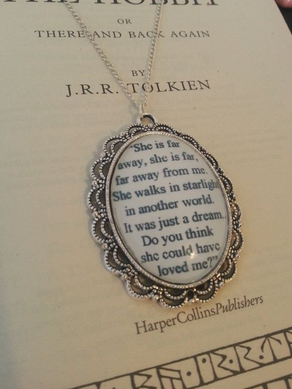 The Hobbit Kili and Tauriel Stars Quote Necklace on Etsy, $19.00 This made me want to cry when he said this in the movie!!! :)