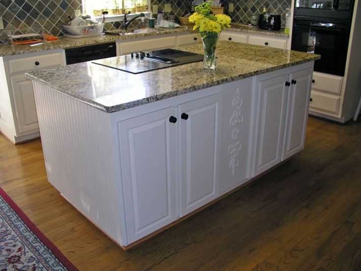 Dazzling Building A Kitchen Island With Matte Black Kitchen Cabinet  Hardware Also Ceramic Glass Electric Cooktop