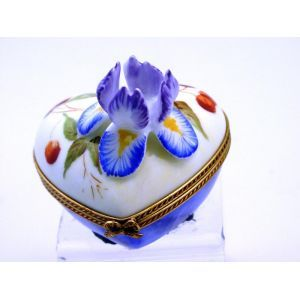 Chamart Limoges Heart Iris Relief Limoges Box Limoges Boxes