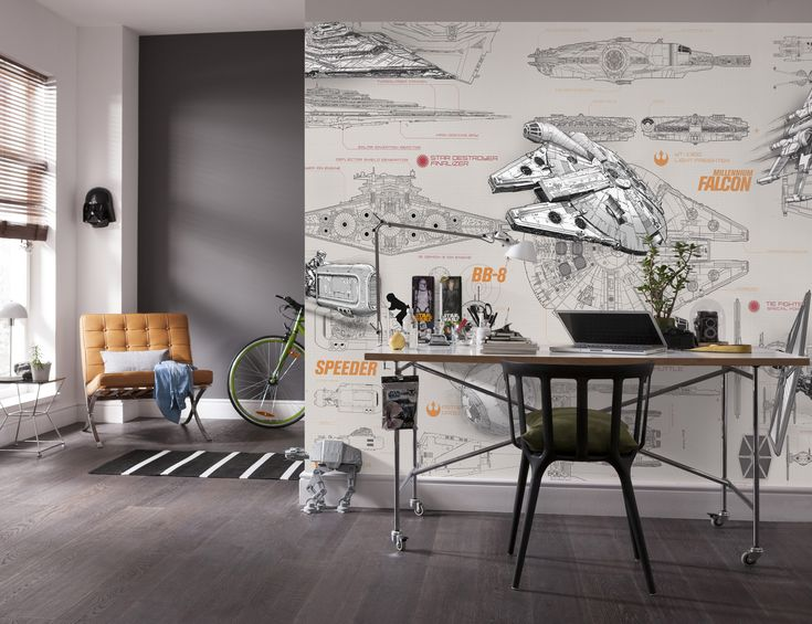 Celebrate Your Favourite Star Wars Components With This Blueprint Inspired Wall  Mural From Komar. Komar Murals Are In Stock At Go Wallpaper UK Part 66