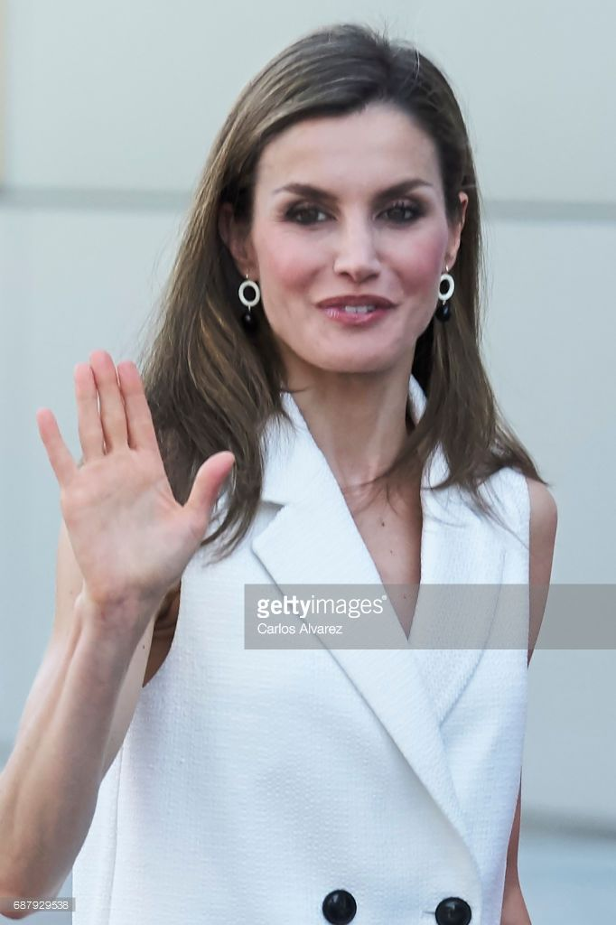 Queen Letizia of Spain attends 'Famelab' 2017 at the Museo Nacional de la Ciencia y Tecnologia (MUNCYT) on May 24, 2017 in Madrid, Spain.