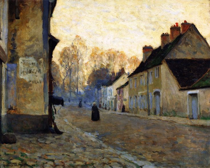 Rue du Canal, Moret-sur-Loing , 1908 , by Clarence Gagnon