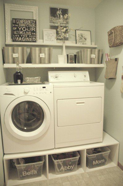 Mudroom Laundry with Storage Pedestal