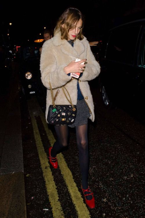 Alexa Chung arrives at the Pixie Geldof Album Launch hosted by Semaine at The London EDITION | November 3, 2016