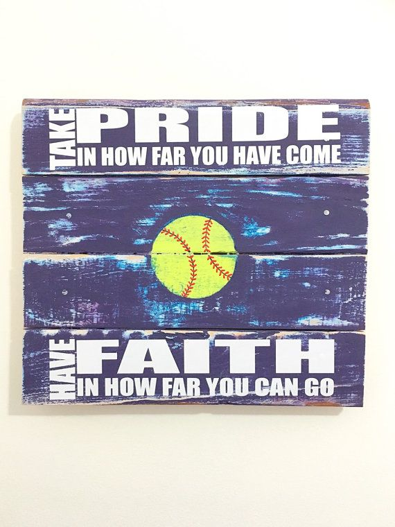 Softball Sign Softball Decor Girls Bedroom by TamieMarieDesign