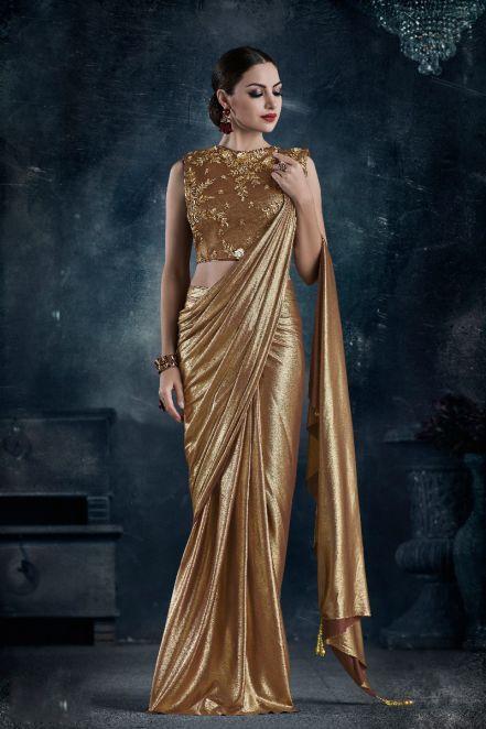 1caa2eccb9 threadsutra #dresses - Designer Wedding Sarees in Light Gold ...