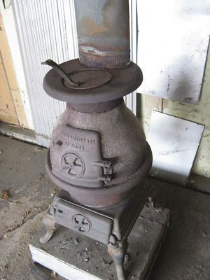 Vintage Pot Belly Stove Wood Or Coal Fired