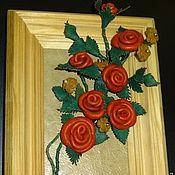 Картины и панно ручной работы. Ярмарка Мастеров - ручная работа Панно из натуральной кожи. Handmade.