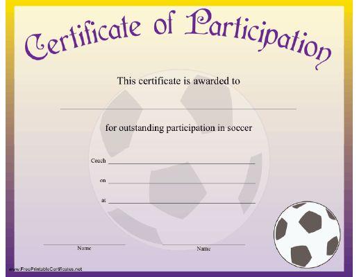 Football certificate template dcbuscharter football certificate template yadclub Gallery