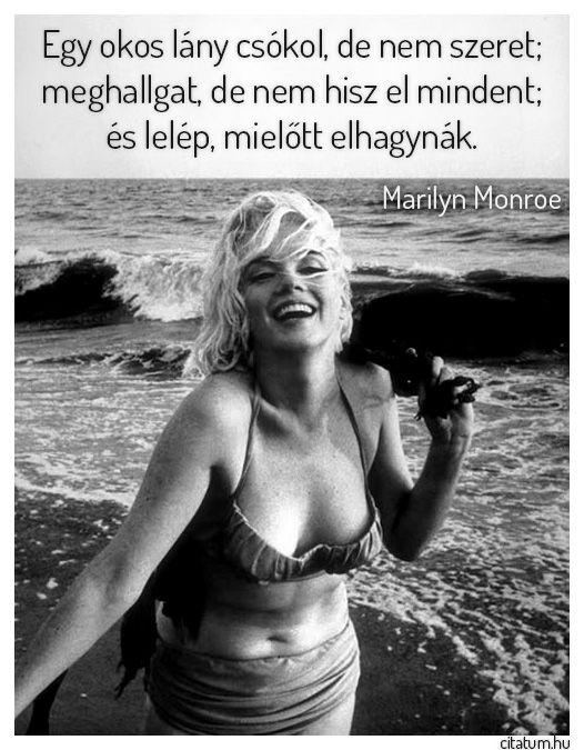 Marilyn Monroe idézete az okos lányokról.