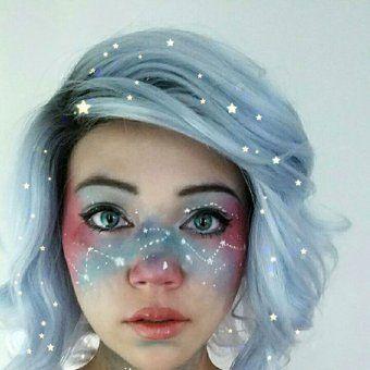 maquillage halloween galaxie