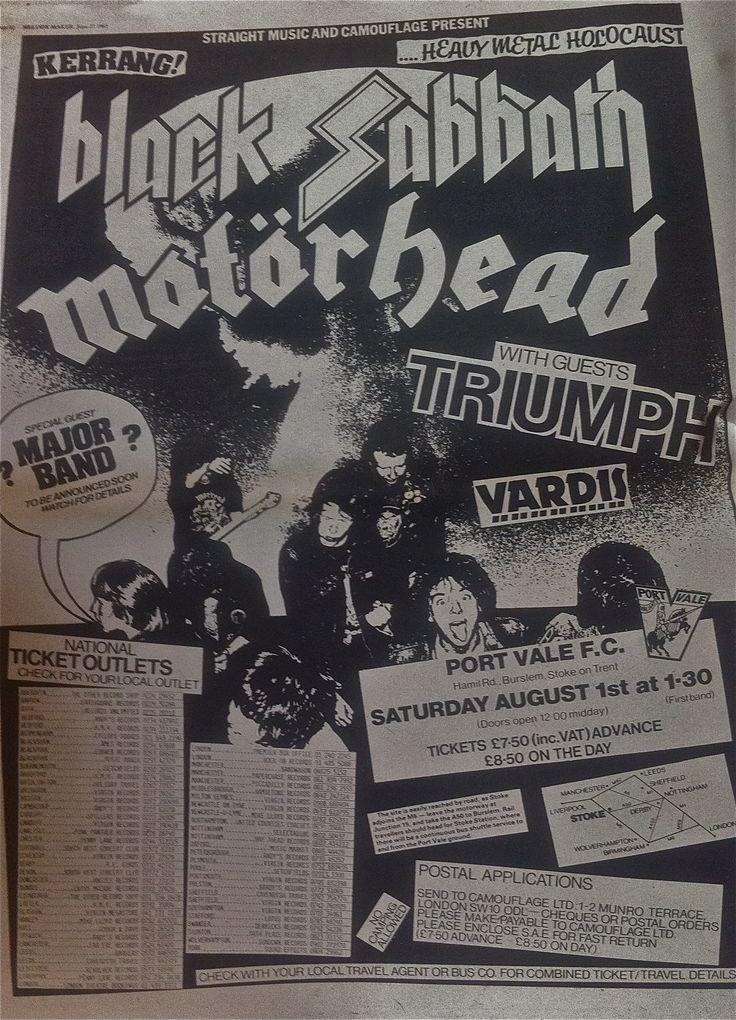 Heavy Metal Band Posters | NWOBHM – or heavy metal circa 1981 if you prefer… | The Thatcher ...