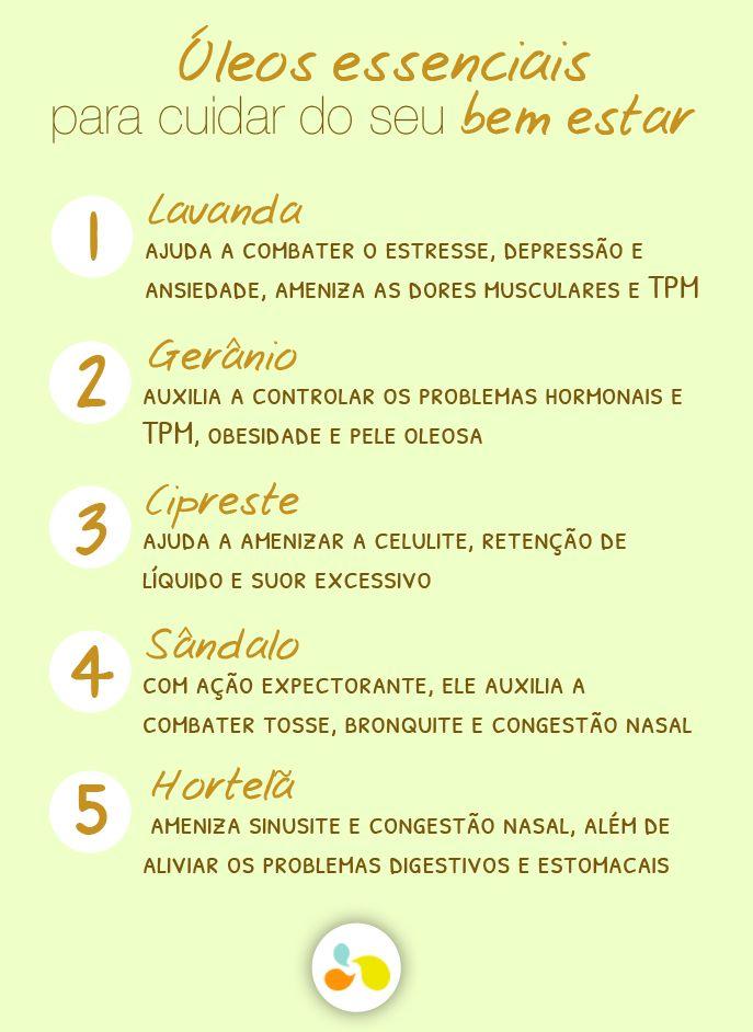 5 óleos essenciais para você ter em casa e cuidar da sua saúde! http://maisequilibrio.com.br/aromaterapia-para-a-imunidade-7-1-6-799.html