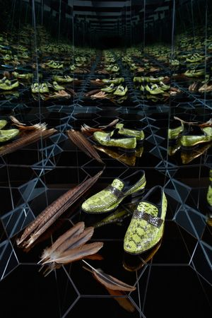 Paul Smith Womens Shoe - Infinity Mirror Box  Photography by  Tom Hartford   Styling by  Miriam Dembach