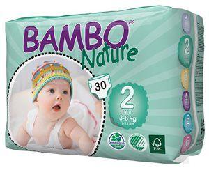 Pieluszki jednorazowe Bambo Nature Mini 3-6 kg 30 szt ABENA Toddlersi
