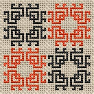 Biscornu cross stitch pattern