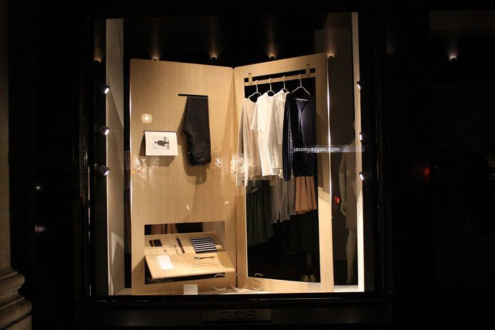 COS windows at Regent street, London visual merchandising