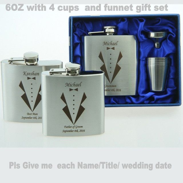 Personalized Groomsmen gift ,best man gift 4 oz or 6oz ounce stainless steel hip flask