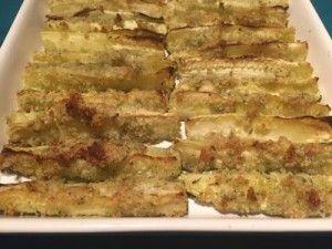 Macadamia and Garlic Crusted Baked Zucchini