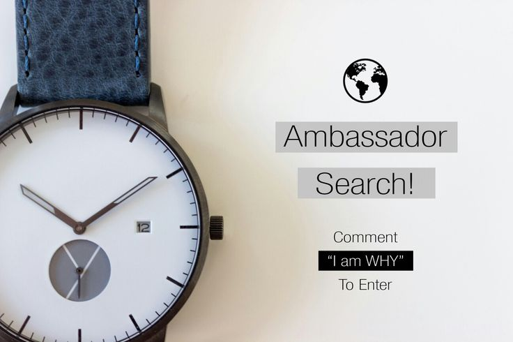 Global ambassador search! Jump on our Instagram or Facebook page to enter! Luxury watches without the price tag!