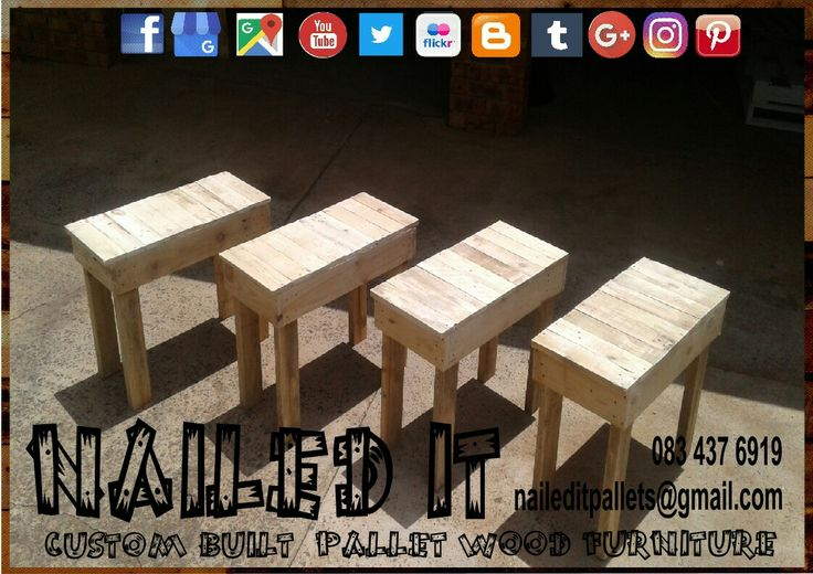 Pallet wood outdoor benches. Raw wood finish #palletoutdoorfurniture #palletpatiofurniture #palletpatioset #palletpatiotable #palletoutdoorsetting #naileditcustombuiltpalletfurniture #naileditpalletfurniture #nailedcustompalletfurniture #custompalletfurnituredurban #palletfurnituredurban
