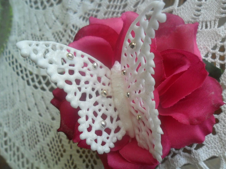 - Royal icing butterfly