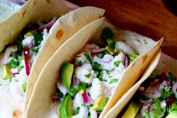 Tacos de poisson cru pour Naturalia