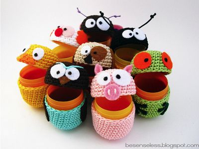 Amigurumi & Kinder eggs - omg....i could have an awesome army of kinder eggs! #kindereggs