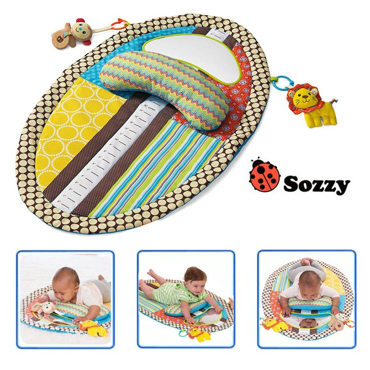 ==> [Free Shipping] Buy Best Sozzy Colorful Baby Play Mat Changing Pad With Stuffed Pillow Safety Mirror Early Education Baby Toys Plush Anitmals Teether Online with LOWEST Price | 32813220099