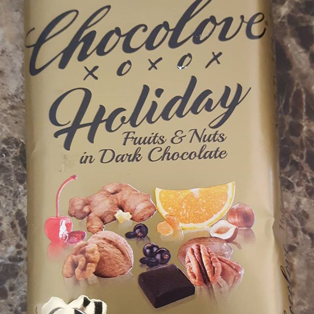 #chocolove #holiday #chocolatebar #darkchocolate #fruit & #nut bar I got smart this year and picked up more then 1 of these bars since last year the display sold out very fast at my local #Co-op here in #porttownsend #wa #holidaychocolate @chocolove #stockingstuffer
