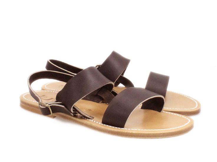 K Jacques Barigoule men's sandals in brown Leather - Italian Boutique €160