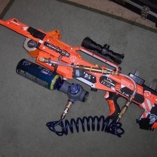 ... epic Nerf gun battle. In just 48 hours, the three-minute video has  attracted more than 600,000 views