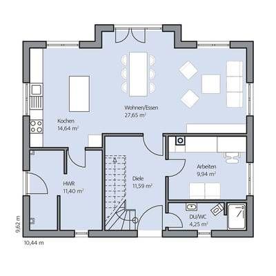 Gästezimmer sowie ein Gäste-WC mit Dusche. Im Da…