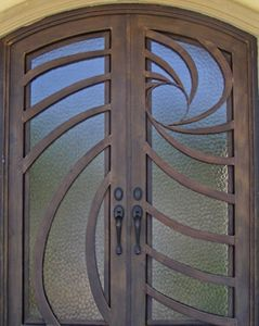 Custom Built Wrought Iron Steel Security and Styling Solutions, Iron Window and Door Guardd Panels, Custom Steel House Address Numbers. Iron Burglar door protection. Child Safety Window Guards - Babin Ironworks.