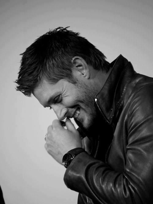 I love the way Jensen can laugh with his whole body because he really means it.