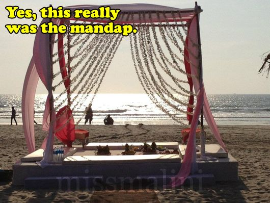 Beach mandap!: Beaches Mandap, Desi Bride