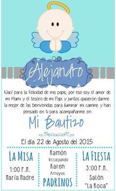 Invitacion Bautizo Angel niño
