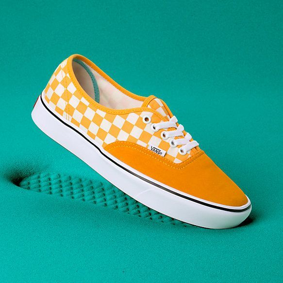 Comfycush Authentic Shop Classic Shoes At Vans Yellow Sneakers Vans Checkered Shoes
