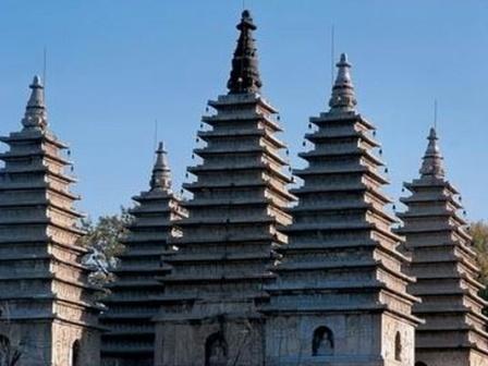 Five Pagoda in Wutasi (Five Pagoda Temple)