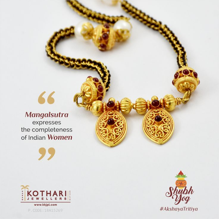 #Mangalsutra expresses the completeness of #Indian #Women.... #gold #alluring #designer #lightweight #tradition #commitment #kkjpl