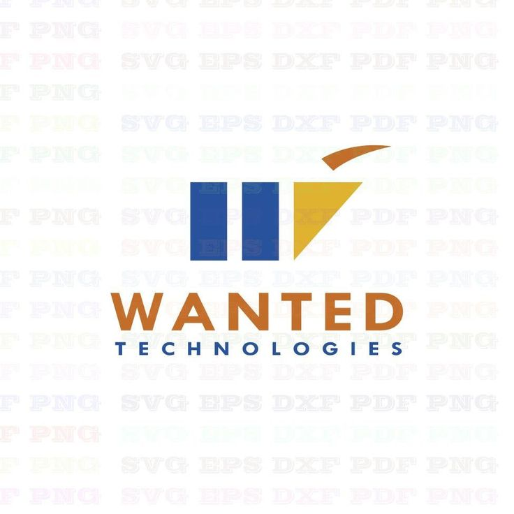 Wanted Technologies Logo Trademark Brand Svg Dxf Eps Pdf Png, Cricut, Cutting file, Vector, Clipart